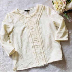 Banana Republic White Soft Sweater Pullover